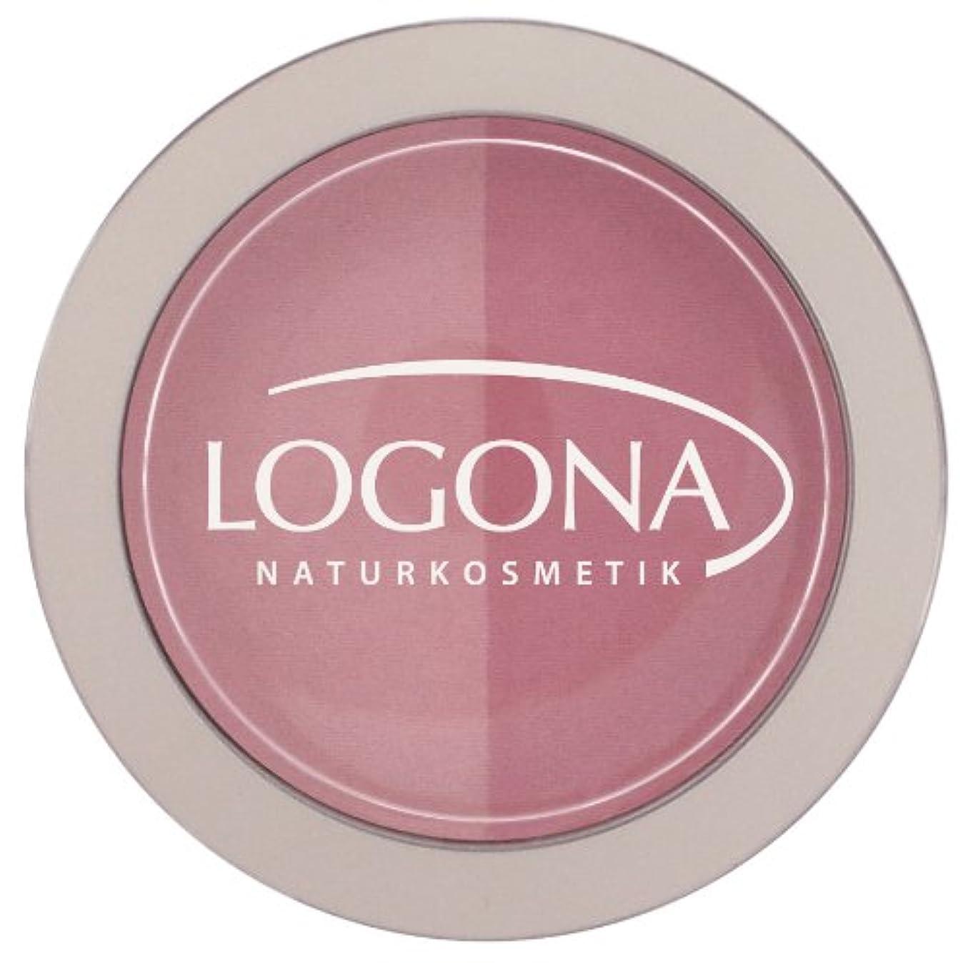 磁石そこ試す【日本正規輸入品】 ロゴナ チークカラー<デュオ> 01ローズ&ピンク 10g