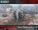 ルビコンモデル 1/56 ドイツ軍 2cm Flakvierling 38 w/Sd.Ah 51/52 トレーラー & クルー プラモデル RB0073