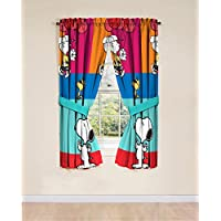 [ピーナッツ]Peanuts Just Be 42 x 63 Curtain Panel Pair JF26844WCDY [並行輸入品]