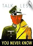 """ジョン・Parrot壁Peel壁アート印刷entitledデジタル復元ベクトル戦争プロパガンダポスター。Talk Less , You Never Know 22"""" x 30"""" 1056970_14_22x30_none"""