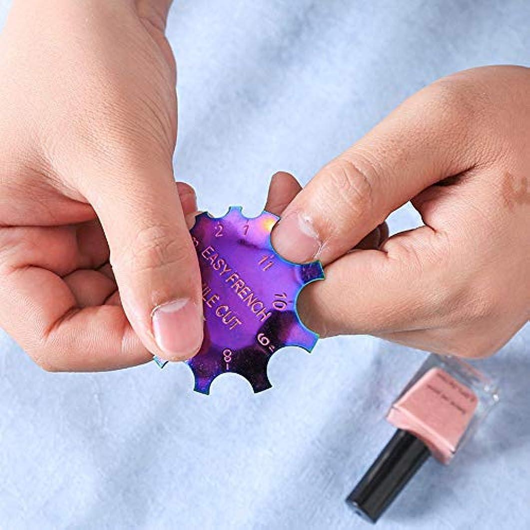 まとめる庭園証拠Symboat 女性のための多彩なステンレス鋼の釘型のフランスの釘の版の釘用具