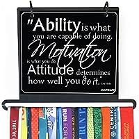 Gone for a run | BibFOLIO Plus Race Bib and Medal表示|壁マウント| ability、動機、& Attitude Quote–アーティストスタイル