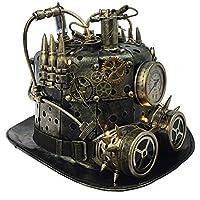 Attitude Studio Steampunk Light Up Fedora Hat with Mechanical Gears