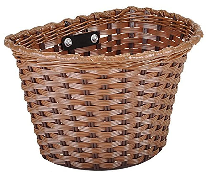 贈り物認識リンクKent Plastic Bicycle Basket Brown 11 x 7 x 8-Inch [並行輸入品]