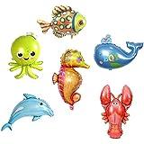 Kesoto 6個 風船 バルーン 海の動物 テーマパーティー ドルフィン タコ 海馬 魚 可愛い プレゼント キッズ おもちゃ 装飾