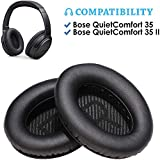 Bingle Replacement Cushions Premium for QC35 Headphones Ear Pads - Memory Foam Pads Adapt to Your Ears - Fits QuietComfort 35 (QC35) and QuietComfort 35 II (QC35 II) with 'L and R' Lettering Scrims