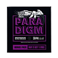 ERNiE BALL Power Slinky Paradigm Electric Guitar Strings - 11-48 Gauge 3 Pack [#3370]