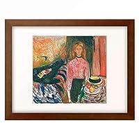 エドヴァルド・ムンク Edvard Munch 「Die Morderin (Stilleben) 」 額装アート作品