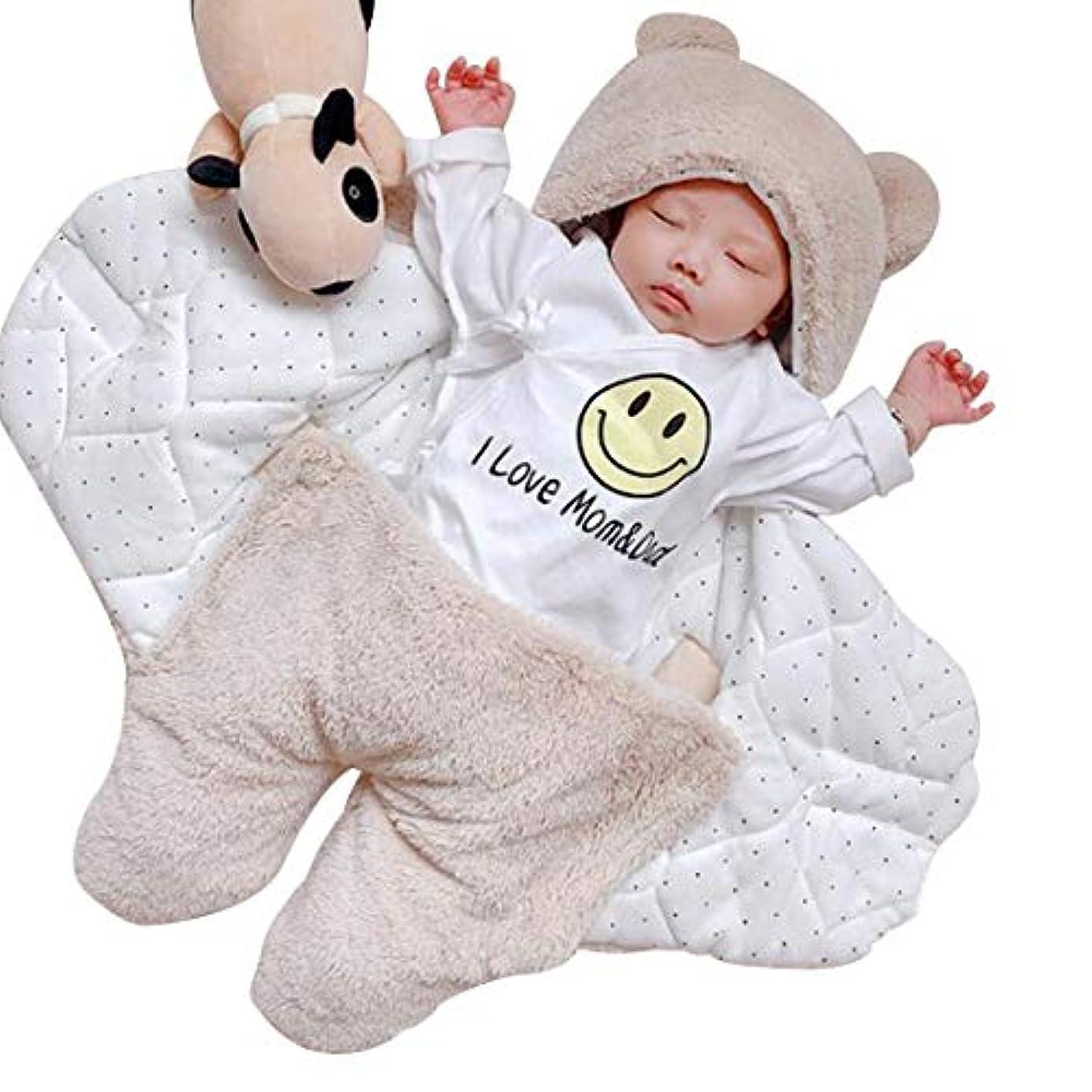 立場おとなしい未知のHuicai 生まれたばかりの赤ちゃんの寝袋男の子女の子かわいいラップ毛布