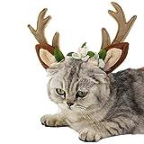 (エスライフ)S-Lifeeling クリスマス コスプレ ヘアバンド トナカイ かわいい 面白い 調節でき 人気 変身 髪飾り 犬 猫 鹿の角 花付き コスチューム