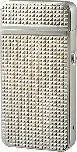 充電式ライター ニューUSBクロスアーク ダイヤカット シルバー