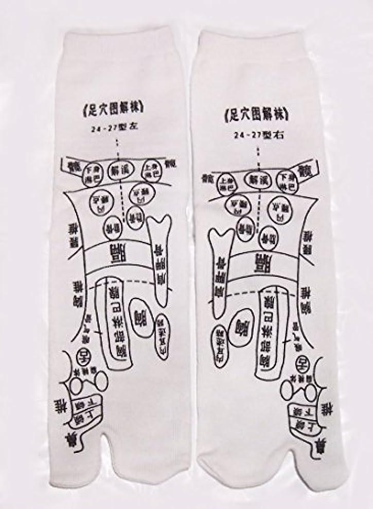 足っほ靴下 足裏つぼ靴下 足ツボソックス 反射区 プリント くつした ツボ押しやすい 22~26センチ 字は中国語