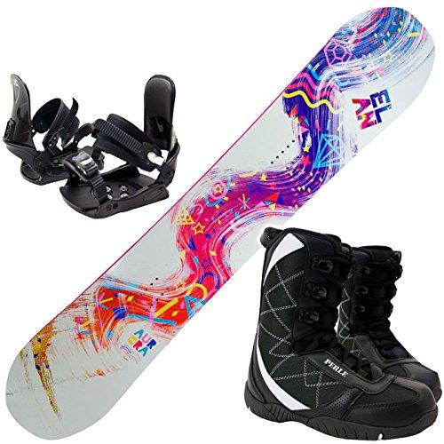 [해외]여성 스노우 보드 3 종 세트 2014 ELAN AURORA 브래킷 부츠 포함/Women`s snowboard 3-piece set 2014 ELAN AURORA With boot with boots