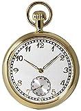 [クレファー]CREPHA 懐中時計 BENTLEY 手巻き スモールセコンド チェーン付き ゴールド BTY-4106-WTG