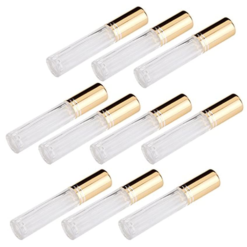 思いやりのある面積裏切る10本セット 透明 交換 旅行 空 ロールオン ガラス 香水瓶 容器 男性 女性3ml