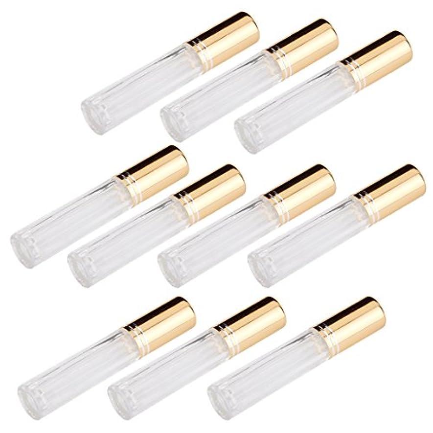 春エジプトええFenteer 10本セット 透明 交換 旅行 空 ロールオン ガラス 香水瓶 容器 男性 女性3ml