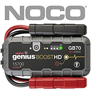 NOCO(ノコ)genius(ジーニアス)Boost HD 2000A UltraSafe Lithium Jump Starter(ジャンプスターター LEDランプ付)[正規品] GB70