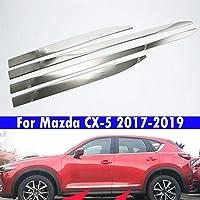 ABS電気メッキ、ステンレススチール、マツダCX-5 2017-2019用車のドアトリム 4個