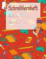 Schreiblernheft: ABC Vorbereitung | Alphabet Druckbuchstaben lernen | Grundschule und Vorschule