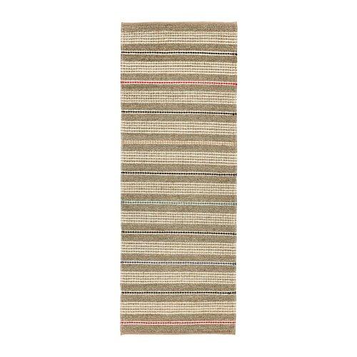SODERUP ラグ 平織り, ナチュラル, マルチカラー, 75x200 cm