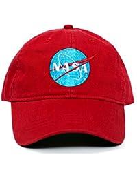 NASA Tomorrowland 刺繍 ユニセックス 大人用 ワンサイズ ダッドハット キャップ レッド