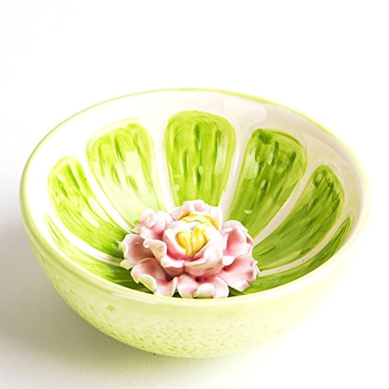 予言する効果的に原理お香立て お香たて 香の器 お香を焚いて 香皿,陶磁器、グリーン