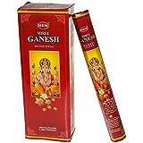 Shree Ganesh - Box of Six 20 Stick Tubes, 120 Sticks Total - HEM Incense
