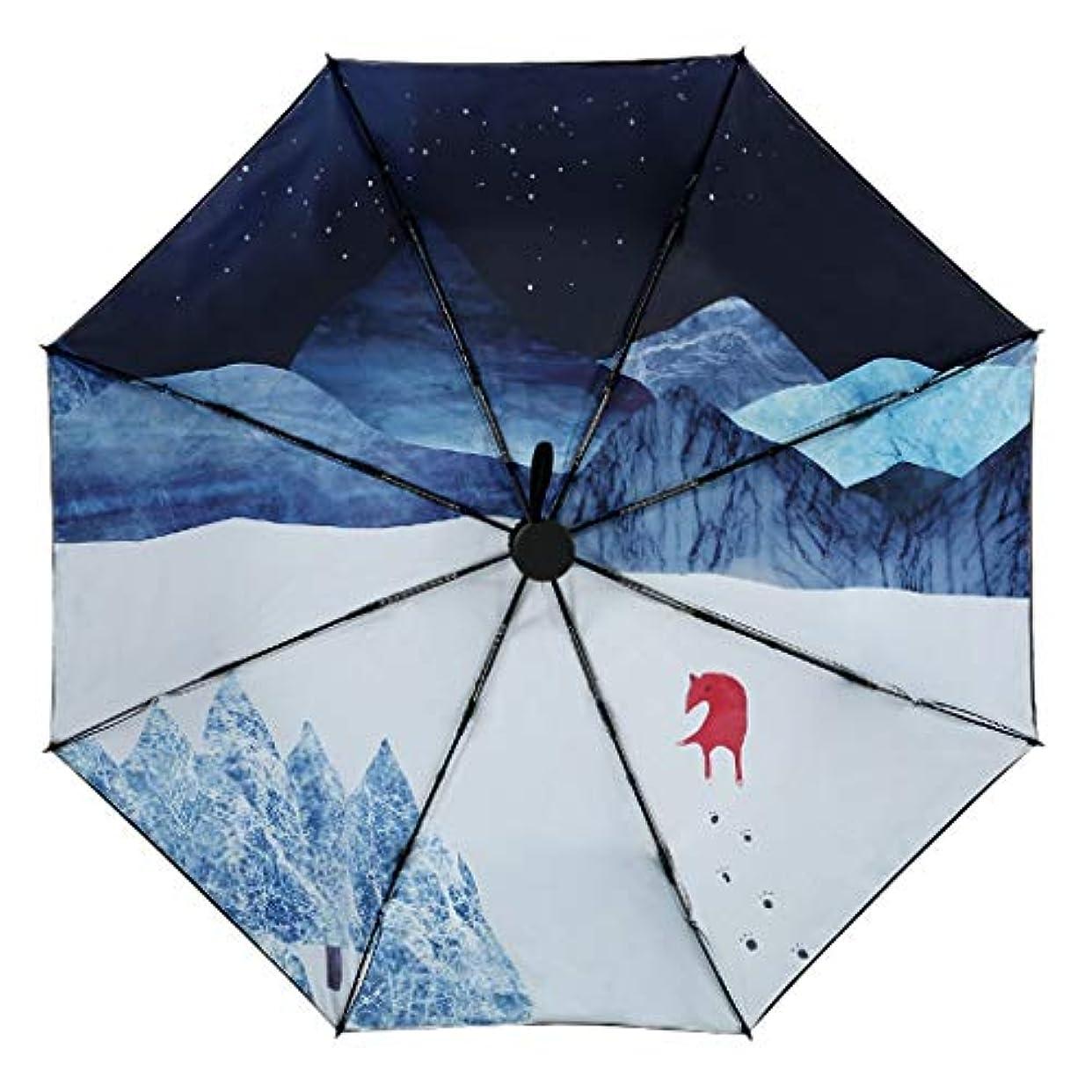 融合スカルクミネラルZEZHOU 中国風の日傘、二重層の防風および防雨日焼け止めUV保護UPF50 +