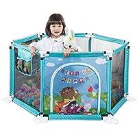 フェンス、幼児および子供のフェンス、幼児安全クロールフェンス、反秋クロールマット遊園地 (Color : Blue, Size : 70 * 2 * 66.5cm)