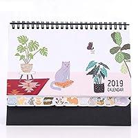 卓上カレンダー 2019かわいい動物カレンダー、家族主催者カレンダー事務作業研究計画卓上カレンダー通常のスケジュール文房具 旅程管理 (Color : F, サイズ : 1PCS)