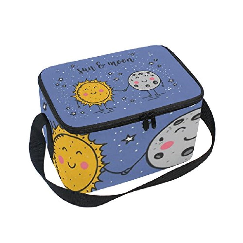 断片アンケートエンドウTsky 太陽 月 かわいい クーラーバッグ 弁当袋 保温保冷 折りたたみ可 軽量 6L