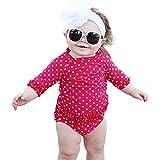 (ラッフル バッツ) ラルフ ラッシュガード ビキニ キッズ 女の子 半袖 ビキニ 水着 01.レッドドット【RGSRP】 (2T【80-90】)