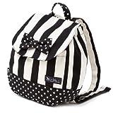 元気にお出かけベビーリュック wide stripe(twill・Black) 1歳から ギフト 誕生日 出産祝い 日本製 B1604400