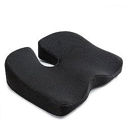 IKSTAR 第四世代ヘルスケア座布団 効果アップグレード 低反発 姿勢矯正 腰痛対策 骨盤サポート 美尻 健康クッション(ブラック)