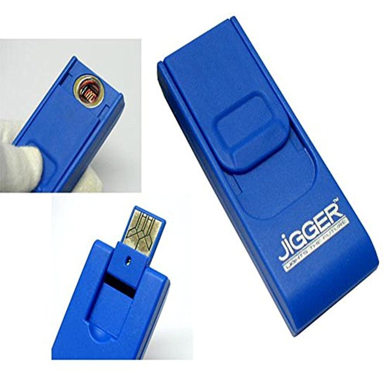 [坪田パール]JiGGER(ジガー) USBライター 5色(ブラック,レッド,ブルー,イエロー,ホワイト)
