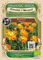 グリーンフィールド ハーブ有機種子 カレンジュラ <オレンジ> [小袋] A092