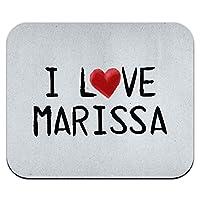 I 愛マリッサ紙に書かれましたマウスパッド
