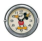 セイコー クロック 掛け時計 ミッキーマウス アナログ 防塵型 大人ディズニー 銀色 FS504S SEIKO