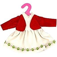 ノーブランド品  可愛い ドレス 服  16インチ/ 40cm人形用  アクセサリー 2色選べる  - 赤