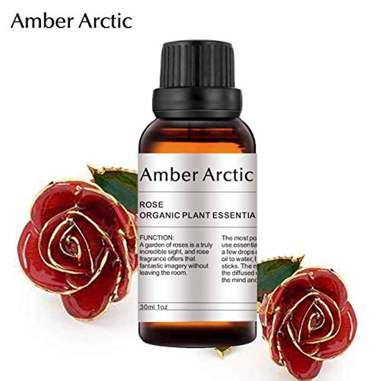 飲料寸法書き込みAMBER ARCTIC エッセンシャル オイル ディフューザー 用 100% 純粋 新鮮 有機 植物 セラピー オイル 30Ml ローズ ローズ
