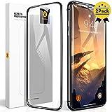 【Humixx】iPhone XR ガラスフィルム 2枚入り 日本旭硝子製 最高硬度10H 強化ガラス 9Dラウンドエッジ加工 全面保護 ガイド枠付き 貼りやすい 高鮮明 透過率99.9% 気泡防止 指紋防止