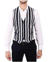 (タリアトーレ) Tagliatore メンズ トップス ベスト・ジレ White/Black Cotton Vest [並行輸入品]
