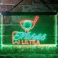 Michelob Ultra Golf Ball LED看板 ネオンサイン バーライト 電飾 ビールバー 広告用標識 グリーン+レッド W30cm x H20cm