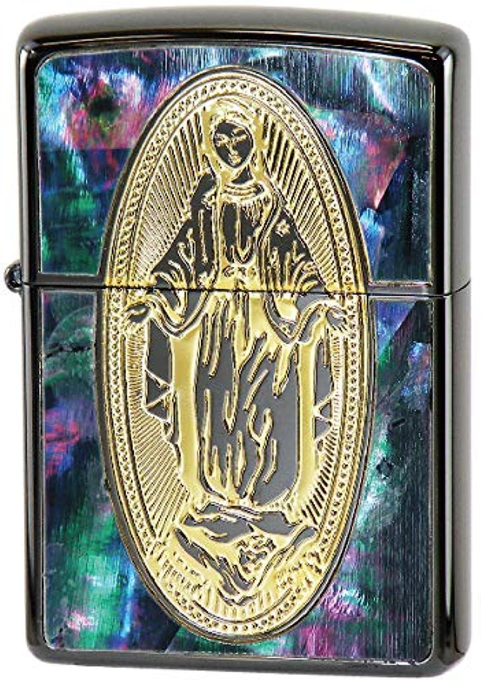 メニュー下位マーキング【ZIPPO】 ジッポーライター オイル ライター SHELL(貝貼り) シェル Goddess of Mercy (ゴッデス オブ マーシー) マリア
