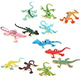 WINOMO Model Plastic Lizard Figures Kids Toy Set Tricks - 12pcs