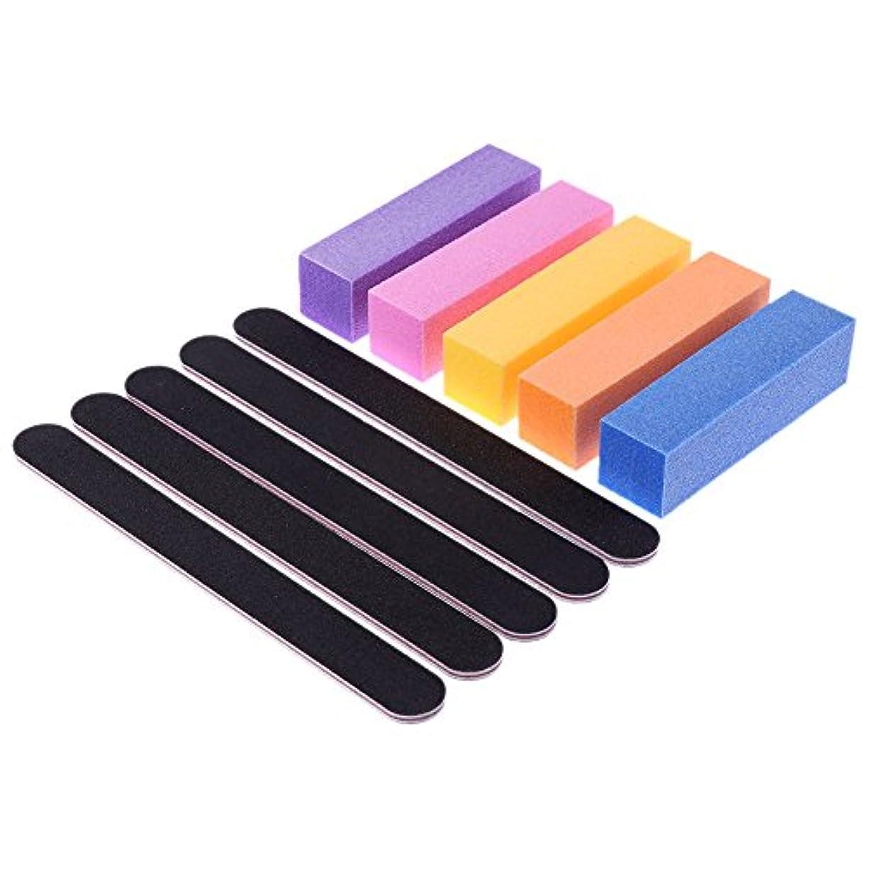 電池財産変形するAEdiea 5pcs/セット ネイルツール ネイル研磨バーツール ネイルの切削 スクエア ネイルグラインダーブロック 無味 釘サンディングバーツール