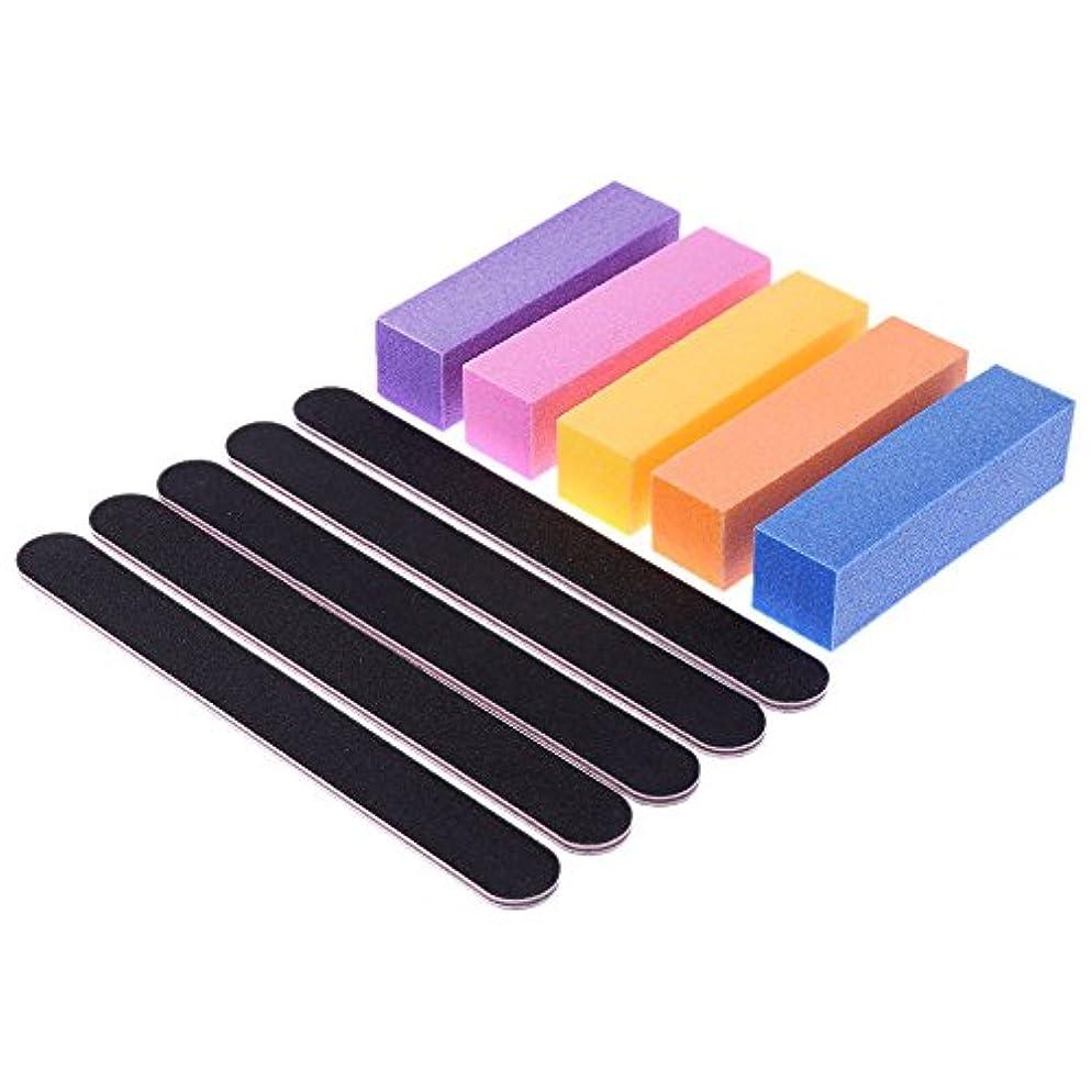 くしゃみマインド形式AEdiea 5pcs/セット ネイルツール ネイル研磨バーツール ネイルの切削 スクエア ネイルグラインダーブロック 無味 釘サンディングバーツール