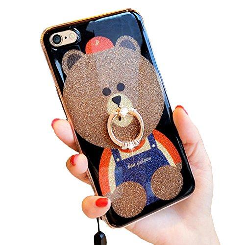 iPhone 7キックスタンドケース、かわいいTeddy Bear iPhone 7Bling G...