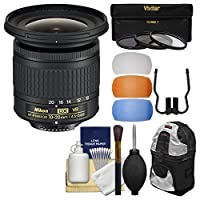Nikon 10–20mm F / 4.5–5.6G DX af-p VR Zoom - Nikkorレンズwith 3UV/CPL / nd8フィルタ+バックパック+キット