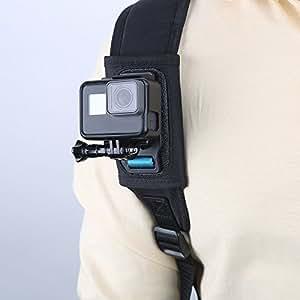 TELESIN バックパックマウント Gopro Hero7/6/5/4/3/2、Gopro session、Gopro fusionXiaomi Yi,SJCAMなどのスポーツカメラに対応 (バックパックサイズ:8mm-16mm)